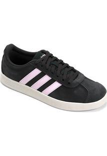 Tênis Adidas Vl Court 2.0 Feminino - Feminino-Preto+Rosa