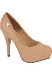 Sapato Meia Pata Liso- Nude- Salto: 11,5Cm- Vizzvizzano