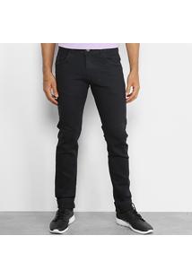Calça Jeans Skinny Coffee Lavagem Escura Básica Masculina - Masculino-Marinho