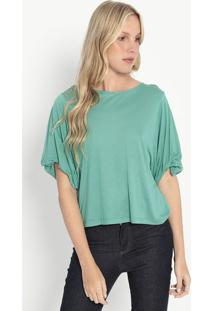 Blusa Lisa Com Tag- Verde Claro- Colccicolcci