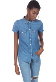 4c9c3afddb Levi s. Camisa Jeans Levis Short Sleeve Classic Western ...