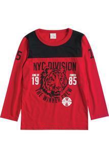 Camiseta Tigre- Vermelha & Preta- Lecimarlecimar