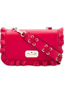 Red Valentino Bolsa Tiracolo Red(V) Com Babados - Vermelho