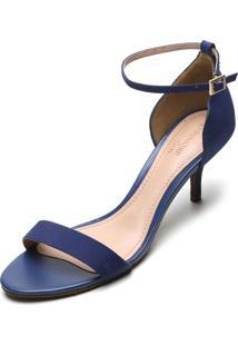 Sandália Couro Dumond Lisa Azul