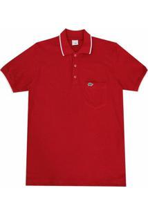 Camisa Pau A Pique Polo 2 - Masculino-Vermelho