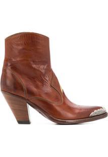 Golden Goose Ankle Boot Nora Com Patch De Estrela - Marrom