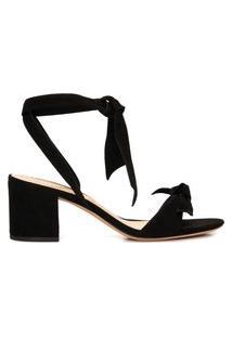 Sandália Feminina Ankle Wrap Clarita 60 - Preto