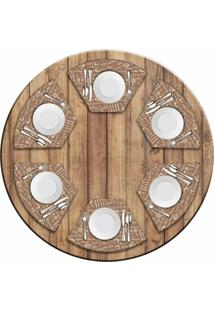 Jogo Americano Love Decor Para Mesa Redonda Wevans Kitchen Kit Com 6 Pçs