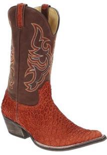 Bota Couro Texana West Country Masculina - Masculino-Marrom