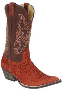Bota Couro Texana West Country Masculino - Masculino-Marrom