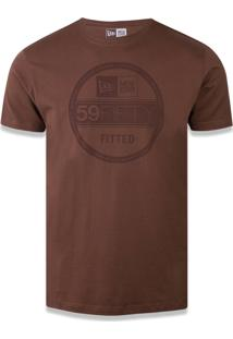 Camiseta New Era Regular New Era Brasil Marrom