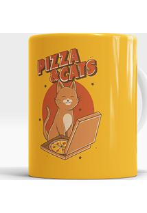 Caneca Pizza And Cats