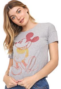 Blusa Cativa Disney Aplicações Mickey Cinza