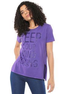 Camiseta Calvin Klein Jeans Keep Young Roxa