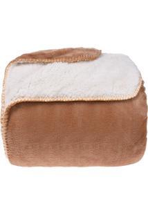 Cobertor King Sherpa Pele De Carneiro E Plush Dupla Face - Carmuça