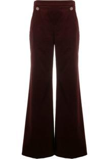 Temperley London Calça Pantalona Esmeralda - Vermelho