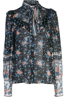 Ulla Johnson Blusa Floral - Azul