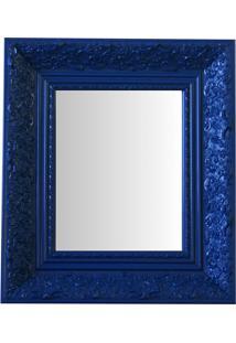 Espelho Moldura Rococó Fundo 16433 Azul Art Shop