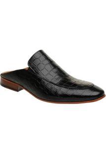Sapato Couro Malbork Slipper Mule Croco Masculino - Masculino