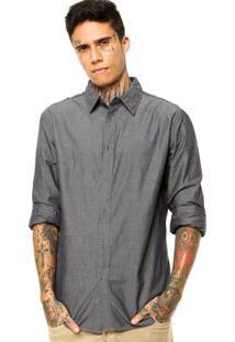 Camisa Pacific Blue Textura Cinza