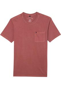 Camiseta John John Rx Pocket Basic Red Dahlia Malha Vermelho Masculina (Red Dahlia, Pp)