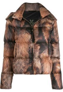 Mr & Mrs Italy Zipped Padded Jacket - Neutro
