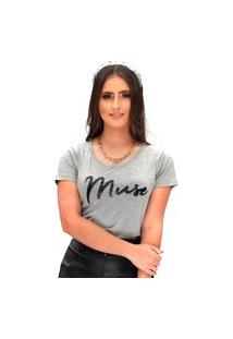 Camiseta Miss Glamour Store Muse Mescla