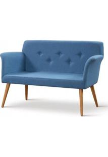 Sofa Cartola Linho Azul Base Tauari 126Cm - 61333 - Sun House