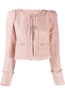 Pinko Jaqueta De Tweed - Rosa