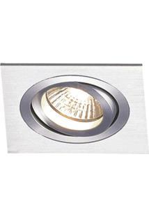Spot Embutir De Alumínio Ecco 8Cmx12Cmx12Cm Bella Iluminação - Caixa Com 3 Unidade - Alumínio