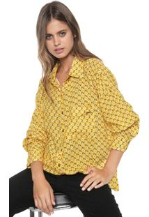 Camisa My Favorite Thing(S) Estampada Amarela
