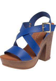 Sandália Mary Pepper Madeira Azul