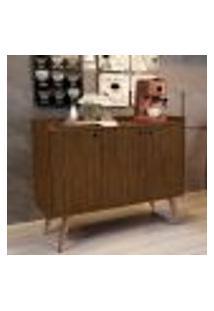 Aparador Buffet Retrô 3 Portas Wood - Freijó - Rpm Móveis