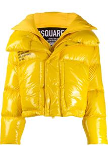 Dsquared2 Front Slogan Detail Padded Jacket - Amarelo