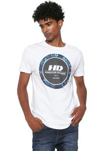 Camiseta Hd Dark Flor Branca