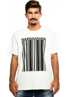 Camiseta Hardivision New Order Manga Curta - Masculino-Branco