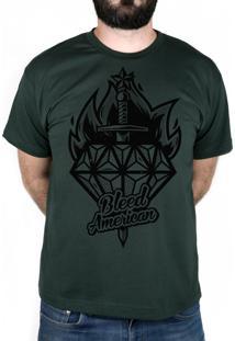 Camiseta Bleed American Diamond Musgo