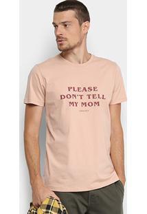 Camiseta Colcci Estampada Masculina - Masculino-Salmão