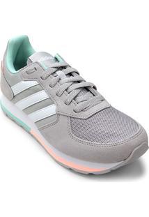 Tênis Adidas 8K Feminino - Feminino-Cinza+Branco