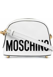 Moschino Bolsa Transversal Mini Com Estampa De Logo - Branco