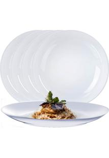 Jogo De Pratos Raso Porcelana Alem㣠Jantar 27Cm 4 Pcs - Branco - Dafiti