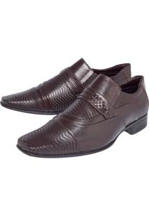 Sapato Social Valecci Textura Marrom