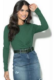 Blusa Canelada Verde