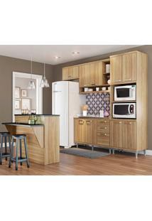 Cozinha Compacta Sem Tampo 5 Peças 5843 Sicília - Multimóveis - Argila Acetinado