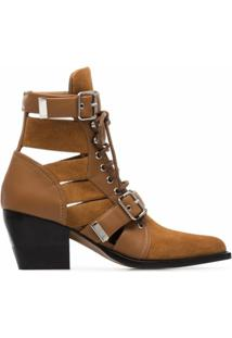 Chloé Ankle Boot Rylee - Marrom