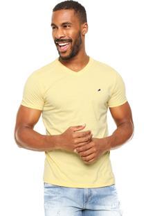 Camiseta Enfim Bordado Amarela