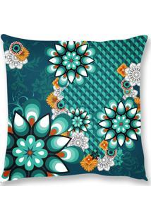 Capa De Almofada Renata Sader Polini Verde 45X45Cm - Verde - Dafiti