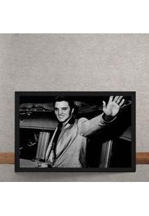 Quadro Decorativo Elvis Acenando Fotografia 25X35