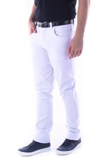 Calça 3034 Sarja Traymon Skinny Branco