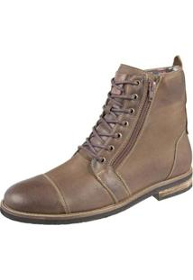 Bota Shoes Grand Ziper Masculina - Masculino-Marrom
